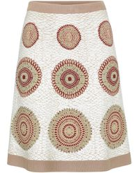 Alaïa Jacquard Stretch-knit Miniskirt - Multicolour