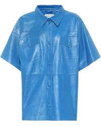 Stand Studio Kelly Leather Shirt - Blue