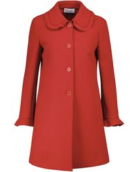 RED Valentino Single-breasted Coat - Red