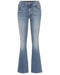 Mother Jeans flared The Weekender a vita alta - Blu