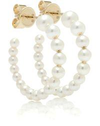 Sophie Bille Brahe - Marco 14kt Gold And Pearl Hoop Earrings - Lyst