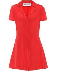 Valentino Silk Playsuit - Red