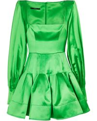 Alex Perry Minikleid Airlie aus Satin - Grün