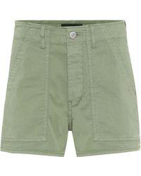 3x1 - Shorts Simone de tiro alto de algodón - Lyst