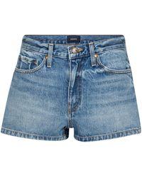 Khaite Charlotte High-rise Denim Shorts - Blue