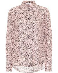 Chloé Printed Silk Crêpe Shirt - Pink
