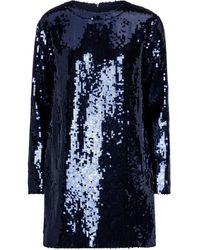 Victoria, Victoria Beckham Sequined Minidress - Blue