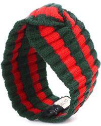 Gucci Fascia per capelli in misto lana - Verde
