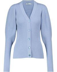 Safiyaa Cárdigan Indre mezcla de lana merino - Azul