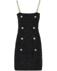 Balmain Exklusiv bei Mytheresa – Minikleid aus Tweed - Schwarz