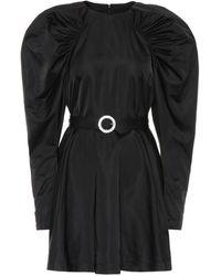 ROTATE BIRGER CHRISTENSEN Puff-sleeve Satin Minidress - Black