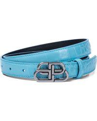 Balenciaga Cinturón BB de piel - Azul
