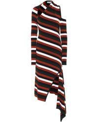 Monse Striped Merino Wool-blend Midi Dress - Multicolour