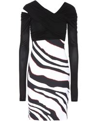 Roberto Cavalli - Zebra-striped Dress - Lyst