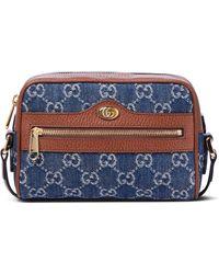 Gucci Schultertasche Ophidia GG Mini - Blau