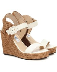 Jimmy Choo Delphi Leather Rope Wedges - Multicolour