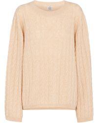 Totême Cable-knit Cashmere Sweater - Natural