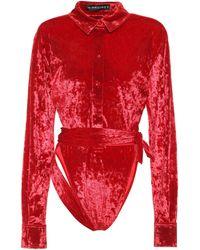 Y. Project Body de terciopelo elastizado - Rojo