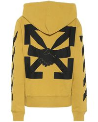 Off-White c/o Virgil Abloh - Felpa Agreement in cotone con logo - Lyst