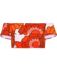Dodo Bar Or Bedrucktes Bikini-Höschen - Orange