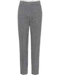 AMI Pantaloni in lana pied-de-poule - Grigio