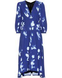Proenza Schouler 3/4-sleeve Tie-dye Cady Dress - Blue