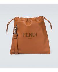 Fendi Small Leather Drawstring Pouch - Multicolour