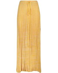 Christopher Esber Ribbed-knit Maxi Skirt - Yellow