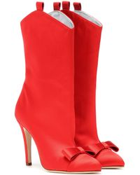 Alessandra Rich - Ankle Boots aus Satin - Lyst