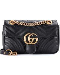 Gucci - Borsa a tracolla GG Marmont Mini in pelle matelassé - Lyst 301cdecf8e3