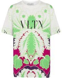 Valentino Printed Cotton T-shirt - Green