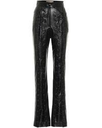 Materiel Tbilisi Pantalones de piel sintética de tiro alto - Negro
