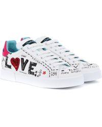 Dolce & Gabbana Sneakers Portofino aus Leder - Weiß