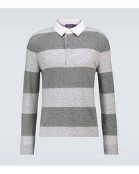 Ralph Lauren Purple Label Cashmere Rugby Polo Jumper - Grey