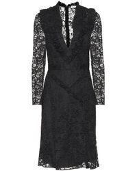 Altuzarra Vestido de encaje de algodón - Negro
