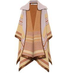 Philosophy Di Lorenzo Serafini Striped Wool-blend Cape - Multicolour