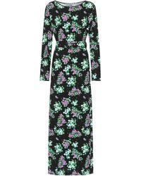 BERNADETTE Monica Floral Jersey Midi Dress - Black
