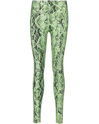 Alo Yoga Leggings Vapor con estampado - Verde