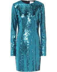Galvan London Robe Oceana à sequins - Bleu