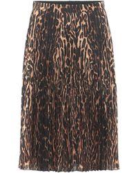 Burberry Midi Skirt - Brown
