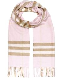 Burberry The Classic Check Cashmere Scarf - Rose