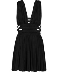 Alaïa Edition 2004 Pleated Jersey Minidress - Black