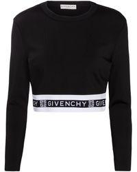Givenchy 4g Stretch-knit Crop Top - Black