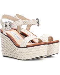 Jimmy Choo - Nylah Wedge Sandals - Lyst