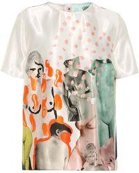Marni T-shirt a stampa in raso - Bianco