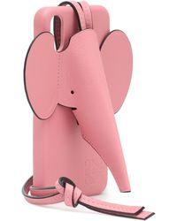 Loewe IPhone XS Max-Hülle mit Elefant - Pink