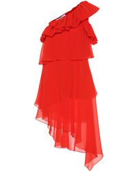 Givenchy Silk One-shoulder Dress - Red