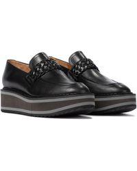 Clergerie Baldie Leather Platform Loafers - Black