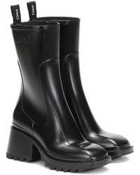 Chloé Betty Pvc Ankle Boots - Black