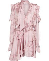 Off-White c/o Virgil Abloh Ruffled Minidress - Pink